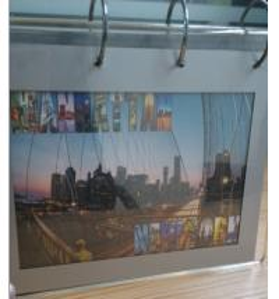 Quality Acrylic Desktop calendar stand / Clear Desktop Picture Holder for sale