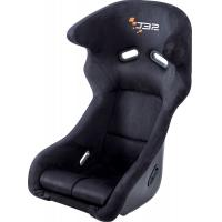 China Fiber Glass Reclining Racing Seats Black Leather Racing Seats Adr Certified wholesale