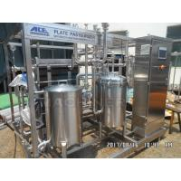 China Type 1000L Fruit Juice Continuous Plate Pasteurizer Sterilization Machine Plate UHT Sterilizer wholesale
