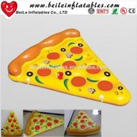 China 2016 Stock Giant PVC air bed inflatable pizza float on sale