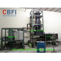 China 10 Ton Per Day Ice Tube Machine With Cold Room , Water Cooling wholesale
