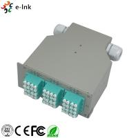 China 24 Ports Industrial DIN-Rail Fiber Patch Panel with 12pcs LC/PC SM Quad adapters wholesale