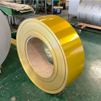China PE PVC Coated 3105 Thin Aluminium Strip Roll 0.5mm 2mm 3mm Thick For Ppr Pipe wholesale