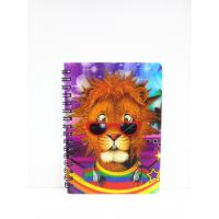 China 400 DPI PET / PP A6 3D Lenticular Notebook / Spiral Diary Book wholesale