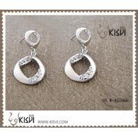 China Fashion Jewelry 925 Sterling Silver Gemstone Earrings with Zircon W-AS1066 wholesale