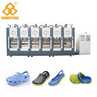 China Two Stations EVA Shoes Slipper Making Machine With Full Automatic Open - Close Mould wholesale