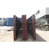 Carbon Steel Flat Deck Semi Trailer CKD And SKD Type , Heavy Duty Flatbed Trailer