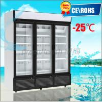 China Glass Door Chiller R404a , 3 Glass Door Freezer Automatic Defrost wholesale