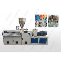 China Stable Conical Double Screw Extruder Machine With Chromium Plated Barrel wholesale