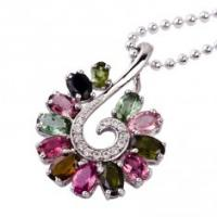 Quality Fashion design and shiny crystal silver gemstone pendant K-BC-C773 with low price for sale