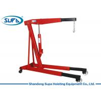 China Red Appearance Hydraulic Shop Crane Easy Storage Designed For Limited Space wholesale