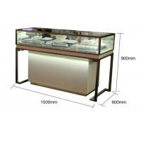 China Pre - Assembled Structure Jewelry Store Display Cases With Stainless Steel Frame wholesale