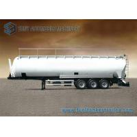 China 90m3 3 Axle Aluminum Flour Dry Bulk Tanker Trailer With Hydraulic Tipping Tanker wholesale