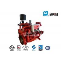 China Red Professional Fire Pump Diesel Engine 144KW With Water Cold Cooling wholesale