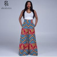 China High Waist Womens African Print Pants Designs Wax Printed Multi Colored wholesale