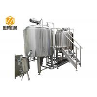 China Stainless Steel Beer Brewing Equipment / Microbrewery Equipment With Wort Cooler wholesale