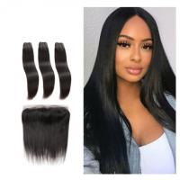 China Silky Straight Front Virgin Human Hair Extensions Bundles Double Weft Long Hair wholesale