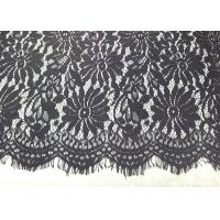 Buy cheap Black Eyelash Lace Fringe Trim With Scalloped Edge For Bridal / Lingerie / Veils from wholesalers