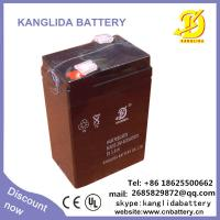 China Rechargeable Lead Acid Storage Battery 6V-5AH on sale