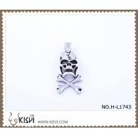 China 316 stainless steel pendant with human skull shape H-L1743 wholesale