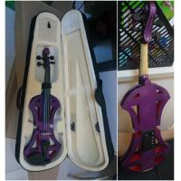 China Professional Purple Solid Basswood Electric Violins , Size 4/4 3/4 1/2 1/4 1/8 wholesale