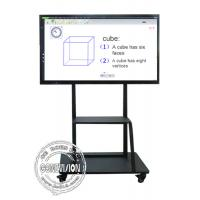 China Mobile Stand Electronic IR Interactive Whiteboard 4K Touch Screen Android and Windows Systems wholesale