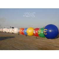 China 0.2mm Durable PVC Inflatable Helium Balloons / White And Blue Color Airtight Balloon wholesale