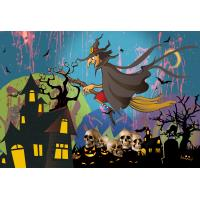 China 0.6mm PET Happy Halloween Poster Lenticular Flip 30 * 40cm For Party Decoration wholesale