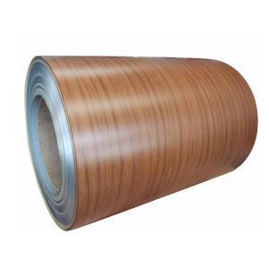 China PVDF Wood Grain Aluminium Coated Coil For Construction wholesale