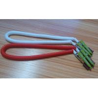 China 430mm length high quality China facotry price white red coiled lanyard leash dental clips wholesale