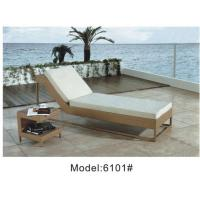 China Rattan wicker outdoor garden furniture of sun lounger ---6101 wholesale