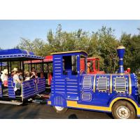 China Outdoor Diesel Trackless Train Amusement Ride Vacuum Tyre For Large Scenic Area wholesale