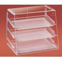 China Clear Acrylic Bakery Display Case With Trays , Slant Front , Rear Doors wholesale