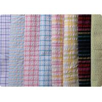 China 100% Cotton Yarn Dyed Latccice Plaid Seersucker Fabric For Garment on sale