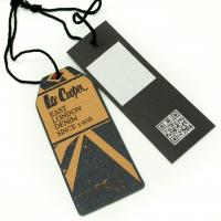 Quality Tide Brand Clothing Hang Tags With String , Custom Printed Logo Swing Tags for sale