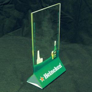 China Vertical 2mm Acrylic Menu Holder With Silk-screen Print Logo wholesale