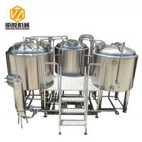 Buy cheap 2000L three vessels stainless steel microbrewery brewing equipment from wholesalers