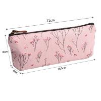 China Soft Nylon Zipper Pencil Pouch For Girls Pencil 21*18.5*8 Cm wholesale