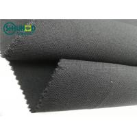 China Medium Weight 76 Gsm Twill Woven Interlining Fabric With PA Double Dot wholesale