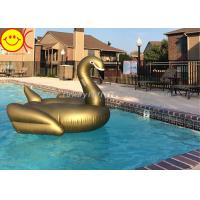 Buy cheap PVC Inflatable Swan Float Swan Pool Float Inflatable Floating Swan on Stock 190cm Golden Swan Water Floats product