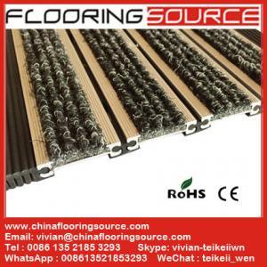 Buy cheap aluminum entrance matting rubber hinge easy roll up for