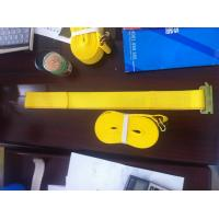 China WLL 3335 LBS Polyester Ratchet Straps , Yellow Car Trailer Straps CE Approved wholesale