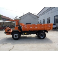 China 63hp mining tipper truck 5 tons mining dump truck  orange color on sale