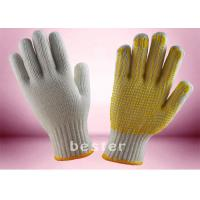 China Wear Resistant Knitted Hand Gloves , PVC Dotted Cotton Gloves Free Samples wholesale