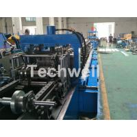 China Blue Cable Tray Roll Forming Machine  With Punch Machine & Hydraulic Pre - Cutting Device wholesale