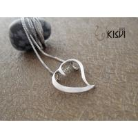 China Elegant & unique fashion design heart 925 silver jewellery pendant W-VB896 wholesale