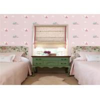China Romantic Pink Modern Kids Bedroom Wallpaper Non Pasted Eco Friendly on sale