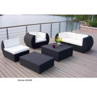 China 5pcs garden wicker sofa furniture with loveseat ottoman -9008 wholesale