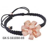 China High quality guarantee & wholesale 925 sterling silver jewellery handmade bracelet with adjustable size wholesale