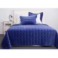 China Solid Velvet Quilted Coverlet And Shams 3 Pcs Twin / Queen / King Size wholesale